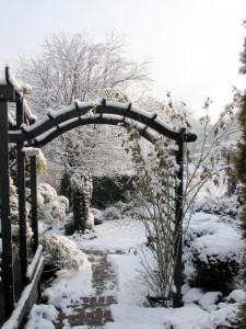 Pergola zimą