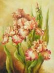 Irysy, kwiaty-obraz