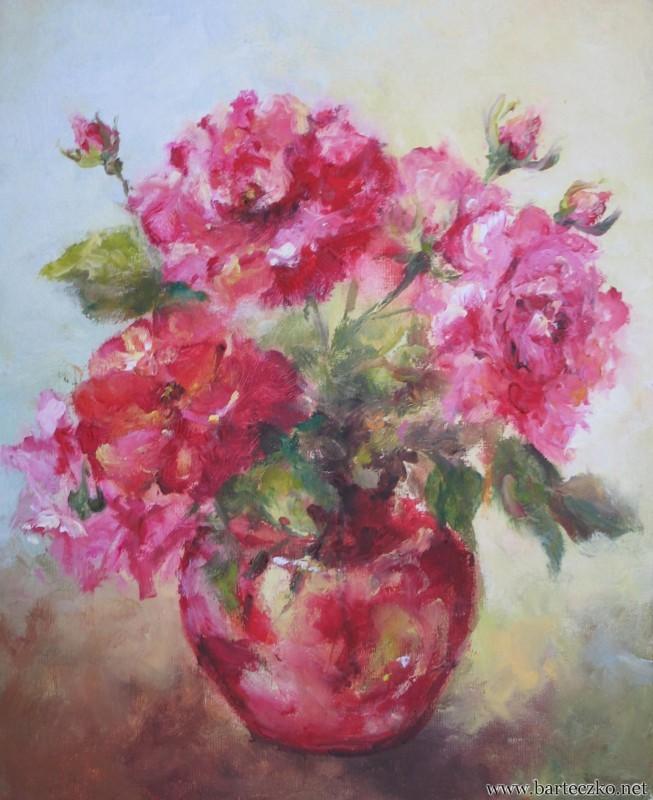 Małe kolorowe róże