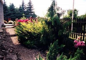 Północna część ogrodu-maj2001