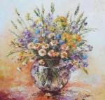Wiosenny bukiet ze stokrotkami-obraz