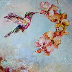 Kolorowy koliberek-obraz