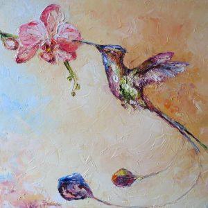 Mały kolorowy koliber-obrazek