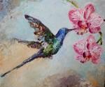 Niebieski koliber – obraz