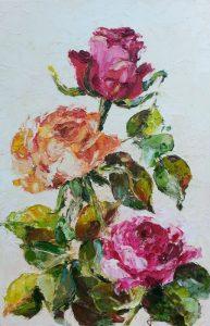 Kolorowe róże-obraz